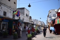 This is one of the main streets of the medina (the old city)